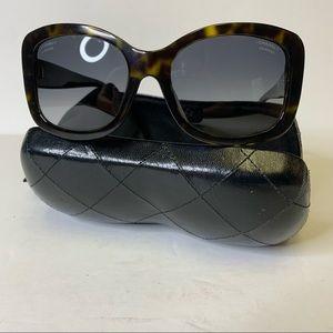 Authentic Chanel CC Button Tortoise Sunglasses